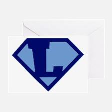Super Hero Letter L Greeting Card