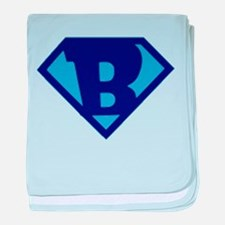 Super Hero Letter B baby blanket