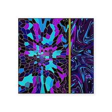 """Purple Mahogany Square Sticker 3"""" x 3"""""""