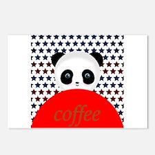 Coffee Panda Bear Postcards (Package of 8)