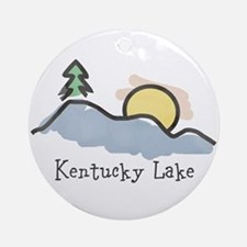 Lake Sunset Ornament (Round)