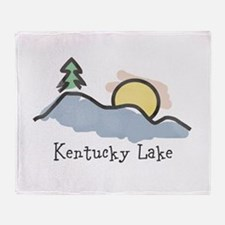 Lake Sunset Throw Blanket