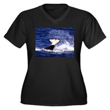 Orca Flukes Plus Size T-Shirt