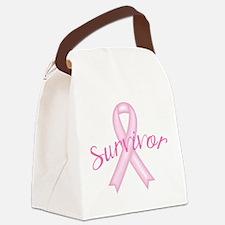 Breast Cancer Awareness Survivor Canvas Lunch Bag
