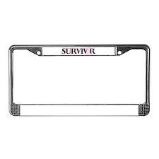 Breast Cancer Survivor License Plate Frame