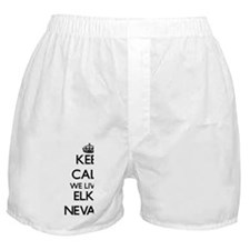Keep calm we live in Elko Nevada Boxer Shorts