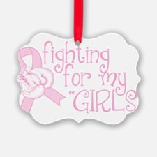 Breast Cancer Awareness Saying Ornament