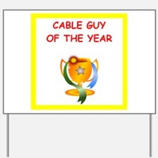 cable tv Yard Sign