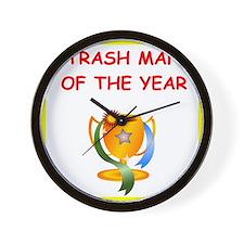 trash man Wall Clock