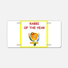 rabbi Aluminum License Plate