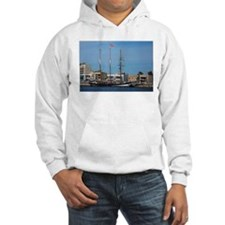Tall Ships at Pt Adelaide South Hoodie