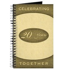 20th Wedding Anniversary Journal