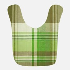 Sage Plaid Bib