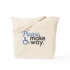 Cute Handicap placard Tote Bag