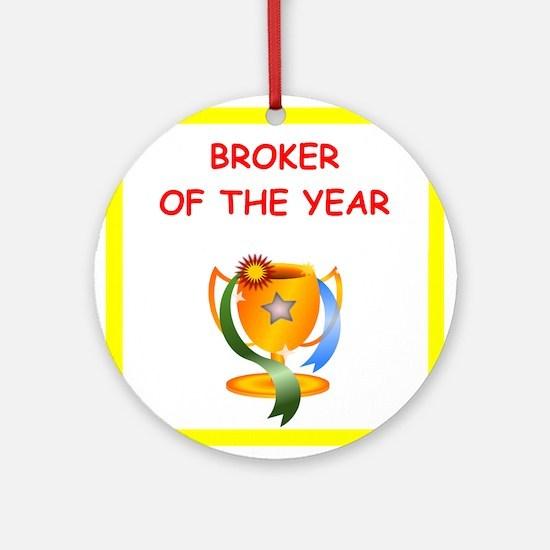 broker Ornament (Round)