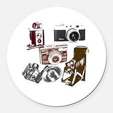 Modern photographer vintage camer Round Car Magnet