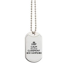 Keep calm we live in Claremont New Hampsh Dog Tags