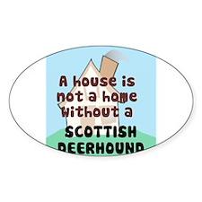Deerhound Home Oval Decal