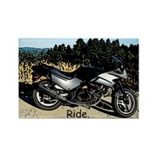 Motorcycle in Mountains Magnet