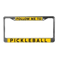 Follow Me To Pickleball License Plate Frame