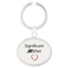 Mothers Love Oval Keychain