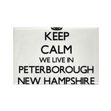 Keep calm we live in Peterborough New Hamp Magnets