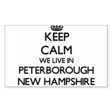 Keep calm we live in Peterborough New Hamp Decal