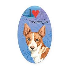 Portuguese Podengo Oval Car Magnet