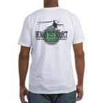 Human Test Subject Fitted T-Shirt