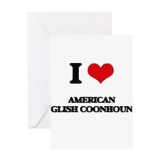 I love American English Coonhounds Greeting Cards