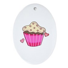 CUPCAKE Ornament (Oval)