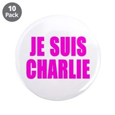 """JE SUIS CHARLIE 3.5"""" Button (10 pack)"""