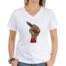 Je suis Charlie, Bloody Hand with Pencil T-Shirt