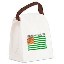 Irish American Flag 4 Canvas Lunch Bag