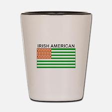 Irish American Flag 4 Shot Glass