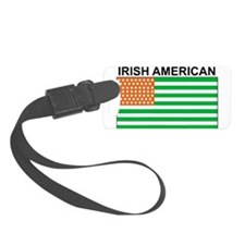 Irish American Flag 4 Luggage Tag
