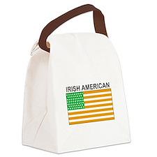 Irish American Flag 3 Canvas Lunch Bag