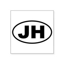 "Cute Jh Square Sticker 3"" x 3"""