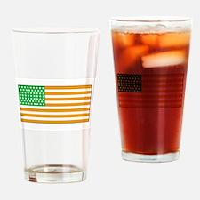 Irish American Flag 2 Drinking Glass
