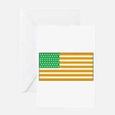 Irish American Flag 2 Greeting Cards