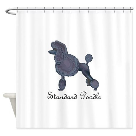 standard poodle shower curtain by greatnotions13. Black Bedroom Furniture Sets. Home Design Ideas