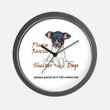 SHELTER DOGS Wall Clock