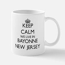 Keep calm we live in Bayonne New Jersey Mugs
