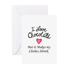I LOVE CHOCOLATE Greeting Cards