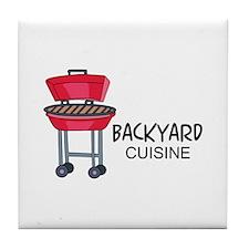Backyard Cuisine Tile Coaster