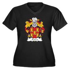 Torres Women's Plus Size V-Neck Dark T-Shirt