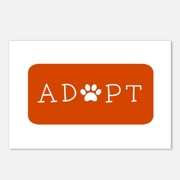 Cute Pet adoption Postcards (Package of 8)