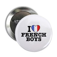 I Love French Boys Button