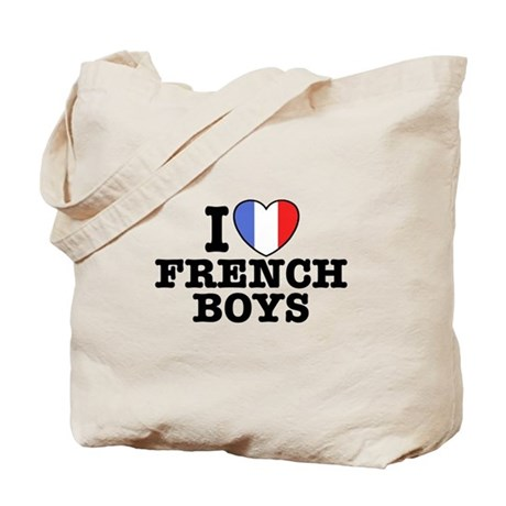 I Love French Boys Tote Bag
