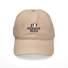 I Love French Boys Baseball Cap